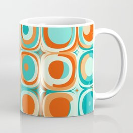 Orange and Turquoise Dots Coffee Mug