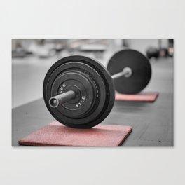 Cast Iron Barbell Canvas Print
