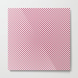 Barberry Polka Dots Metal Print