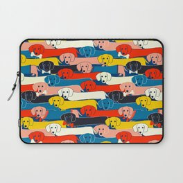 COLORED DOGS PATTERN 2 Laptop Sleeve