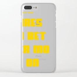 Inspirational Motivation design For Motivational Leaders Clear iPhone Case
