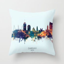 Cardiff Wales Skyline Throw Pillow