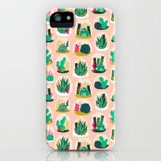 Terrariums - Cute little planters for succulents in repeat pattern by Andrea Lauren iPhone (5, 5s) Slim Case