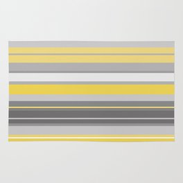 yellow and grey horizontal Rug