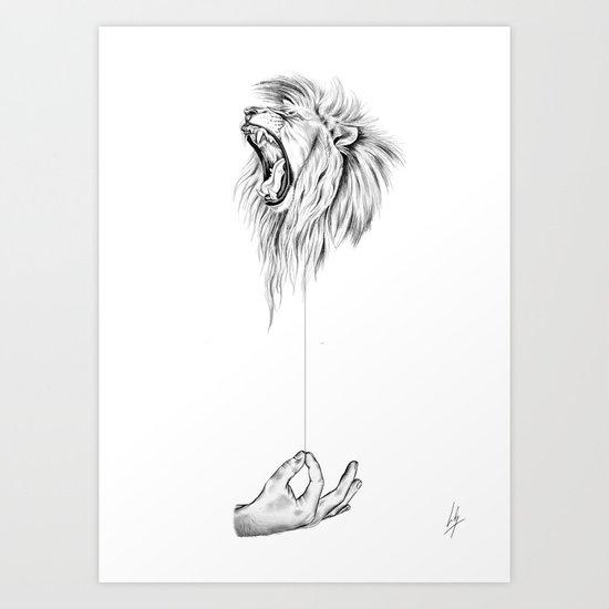 Hear me Roar Art Print
