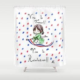 Vive la Révolution! Shower Curtain
