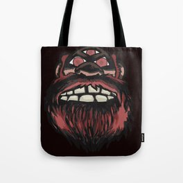 SCARY MONSTER BIGFOOT WITH THREE EYES Tote Bag