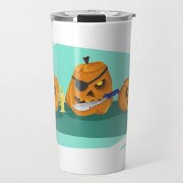 Silly Halloween Pumpkins Travel Mug