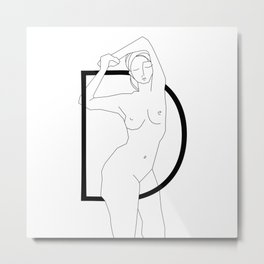 In Love with Letter D Metal Print
