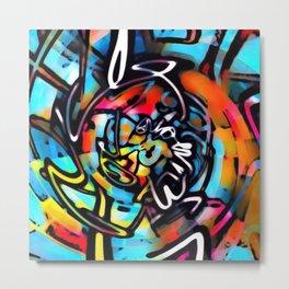 Streetart Chaos Colorful Graffiti Metal Print