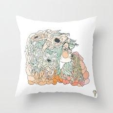 w a r m // m a r s h Throw Pillow