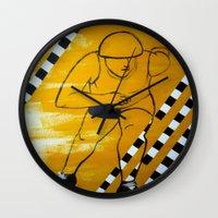 pivot Wall Clocks featuring Bronx Gridlock by JezRebelle