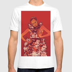 i bring you flowers Mens Fitted Tee MEDIUM White