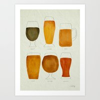beer Art Prints featuring Beer by Cat Coquillette