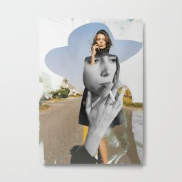Smoking Girl Metal Print