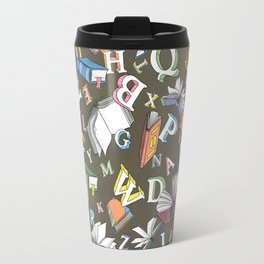 Books and Letters Travel Mug