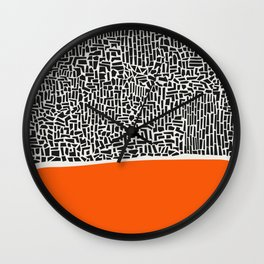 City Sunset Abstract Wall Clock
