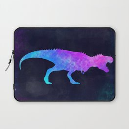T-REX IN SPACE // Dinosaur Graphic Art // Watercolor Canvas Painting // Modern Minimal Cute Laptop Sleeve