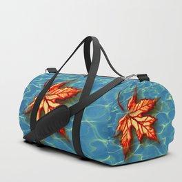 Wet Maple Leaf Duffle Bag