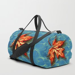 Wet Maple Leaf Duffle Bag