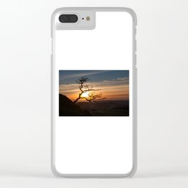 Black Mountain tree Clear iPhone Case