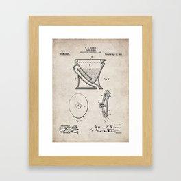 Toilet Patent - Bathroom Art - Antique Framed Art Print