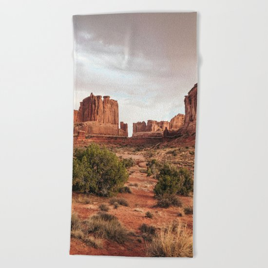Desert Red Utah Rocks Beach Towel