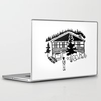 cabin Laptop & iPad Skins featuring Family Cabin by Robert Cooper