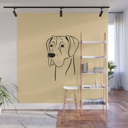 Great Dane (Fawn and Black) Wall Mural