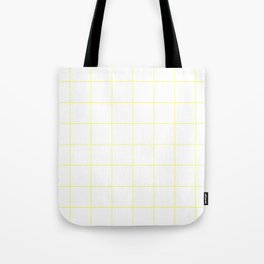 Graph Paper (Light Yellow & White Pattern) Tote Bag