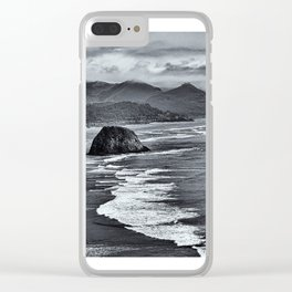 Landscape Ecola State Park in B&W Clear iPhone Case
