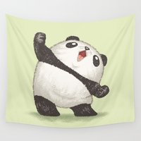 panda Wall Tapestries featuring Panda by Toru Sanogawa