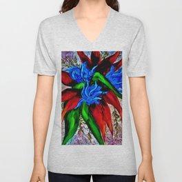 Flower Fantasy Unisex V-Neck