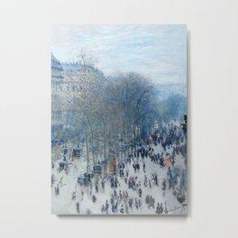 Boulevard des Capucines by Claude Monet, 1874 Metal Print