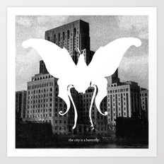 butterfly city Art Print
