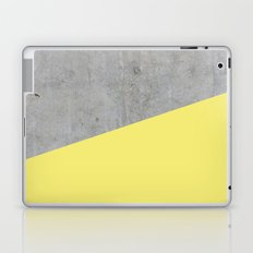 Concrete and yellow Laptop & iPad Skin