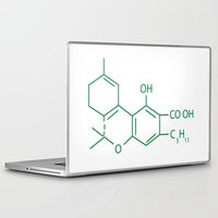 cannabis Laptop & iPad Skins featuring Cannabis Chemistry: THC by WeedPornDaily