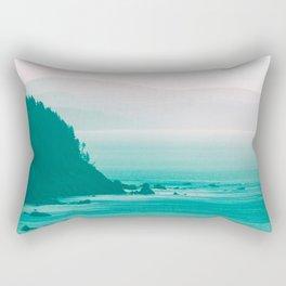 West Coast Dawn Fog Rectangular Pillow