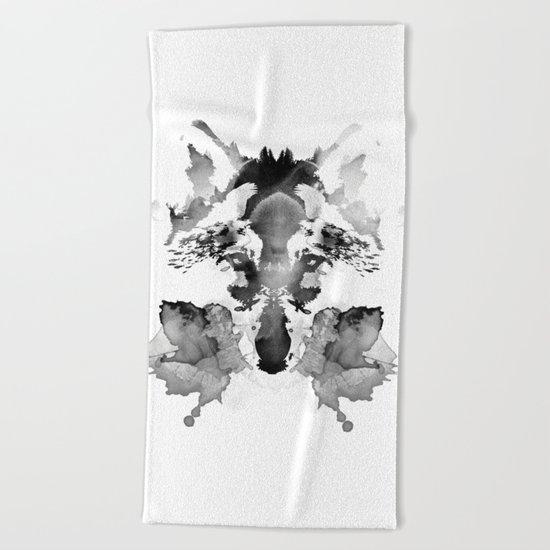 Rorschach Beach Towel