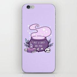 Witch Cauldron // Purple iPhone Skin