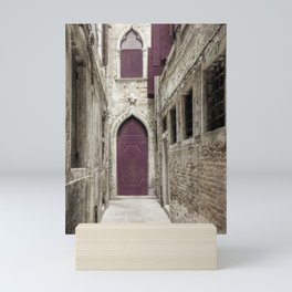Plum Door - Venice, Italy Mini Art Print