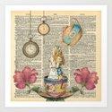 It's Always Tea Time - Alice In Wonderland by nomadartstudio