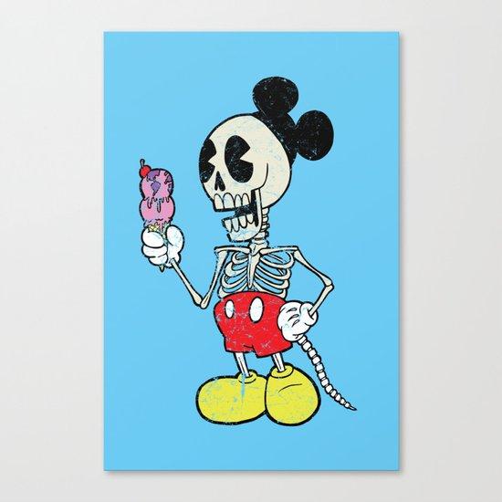 Mickey Bones Canvas Print