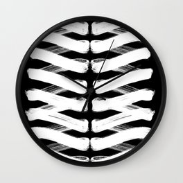 Zigzag white Wall Clock