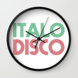 ITALO DISCO Wall Clock