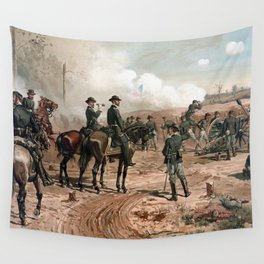 General Sherman Observing The Siege of Atlanta Wall Tapestry