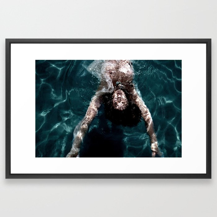 Natural water pool Framed Art Print
