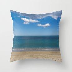 Stripes of blue Throw Pillow