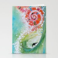 narnia Stationery Cards featuring Surf Wave Somewhere in Narnia by ArtSeriously