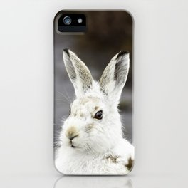 white mountain hare iPhone Case